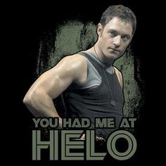 """You Had Me at HELO"" - Battlestar Galactica Adult T-Shirt:Amazon:Clothing"