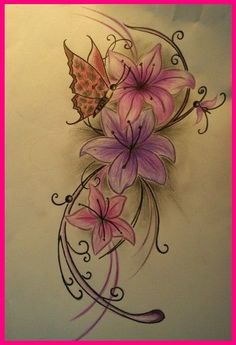 Without the butterfly Tattoos von Tattoo-Bewertung.de tatts to get Pretty Tattoos, Love Tattoos, Beautiful Tattoos, Body Art Tattoos, I Tattoo, Tattoos For Women, Tatoos, Skull Tattoos, Amaryllis Tattoo