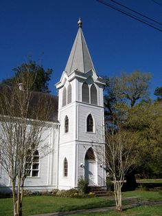 Covington Presbyterian Church in Covington, Louisiana   Both my sisters were married here in our family church