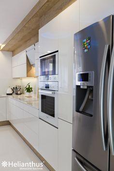 157 Kitchen Desks, Kitchen Furniture, Kitchen Interior, Modern Apartment Design, Interior Design Living Room, Kitchen Cabinet Design, Kitchen Cabinets, Gloss Kitchen, Kitchen Designs Photos