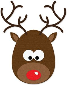 Silhouette Online Store - View Design #34765: rudolph the red-nosed reindeer