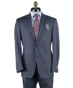 b505b9b29cc0d Hart Schaffner Marx 2 Button Blue And Black Neat Suit - Squire Fine Men's  Apparel,