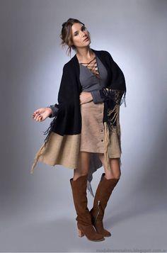 Moda otoño invierno 2016 La Cofradía ropa de mujer. Ruana bb7469604ef6