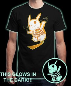 """""""Electric Skeleton"""" is today's £8/€10/$12 tee for 24 hours only on www.Qwertee.com Pin this for a chance to win a FREE TEE this weekend. Follow us on pinterest.com/qwertee for a second! Thanks:)"""