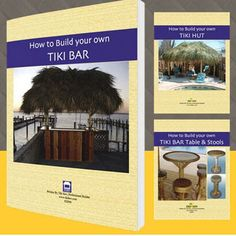 TIKI BAR BUILDING GUIDE. 41 step-by-step pages to build a 4′ x 8′ tiki bar 85 illustrations and annotated photographs Electrical hook-ups, cabinets and shelves. #tgpiratehowto