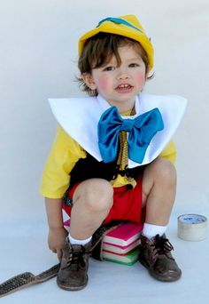 Pinocchio and Jiminy Cricket Costume Dads Halloween costumes