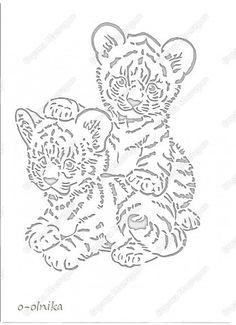 Paper Cutting, Stencil Patterns, Stencil Designs, Tiger Stencil, Cut Animals, Graffiti Drawing, Vinyl Paper, Silhouette Art, Scroll Saw Patterns