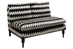 Bacall Armless Settee, Black/Cream. it's kind of trippy, but i think in the right room...