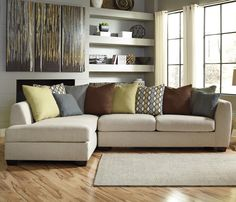2-Piece Sectional with Left Chaise Casheral Contemporary 2-Piece Sectional with Left Chaise & Loose Back Pillows by Benchcraft  Part of the Casheral Collection Sku: 8290116+67 Dimensions: Width: 124  x  Depth: 72  x  Height: 39  Store Availability: In Stock and On Display  Compare At Price: $2,039.98 Sale Price: $1,079.98