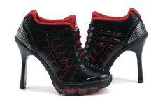 Nike Air Max High Heels Black Red For Momen [jordan high heels] Nike High Heels, High Heel Sneakers, Sneaker Heels, Black High Heels, Womens High Heels, Low Heels, Cheap Nike Air Max, Nike Air Max For Women, Nike Women