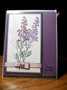 Purple lilac birthday greeting card. $5.00, via Etsy.com Sold