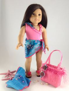 18T At the Beach 6 Piece Complete Swimsuit by MjsDollBoutique18T