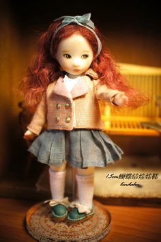 1.5cm蝴蝶結娃娃鞋 Doll Made By Sun Joo Lee
