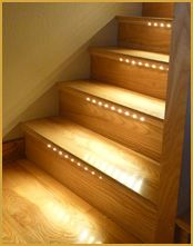 lighting for basement stairs - want these stairs for the basement!