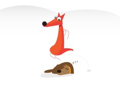 The quick brown fox jumps over the lazy dog on Behance