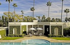 Hillcrest Estate, the Georgian/ Hollywood Regency-style home was originally built for actor William Powell & his wife at the time, the actress Carole Lombard.  ~Later owned by Kelly Wearstler