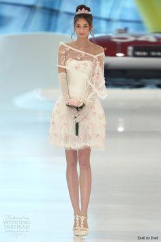 eme di eme 2014 bridal riga short wedding dress pink flowers