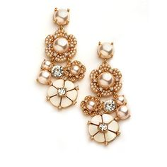 Kate Spade New York Park Flower Chandelier Earrings from Lord & Taylor on shop.CatalogSpree.com, your personal digital mall.