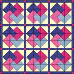 Hola chic@s ,   Para hoy, he preparado este bloque: Card Trick .    Aquí tenéis los patrones para hacer un bloque de 24cm. Imprimir en DIN-A...