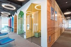 MCA has designed the new offices of gym management software company Wodify, located in Lisbon, Portugal. Wodify's Lisbon offices are located in Parque das Open Space Office, Kids Office, Office Interior Design, Office Interiors, Office Designs, Visual Merchandising, Warehouse Office, Agency Office, Office Pods