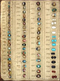 Not buttons but I stuck them here until I figure out what to do with them - Antique reference guide for glass beads #collections