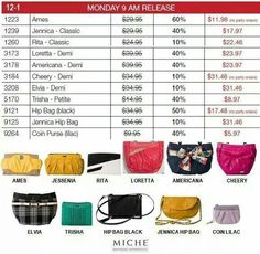 Monday releases available while supplies last.  Visit my site to checkout all the cyber sale deals.  Great savings. Order @ https://sandrasgotmy.miche.com Attach your order to the November party to be entered in a raffle.