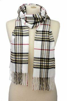 NYfashion101 Very Soft Cashmere Feel Classic Plaid Style Tassel End Long Scarf