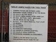 Track Rules
