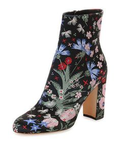 5653743e6900 X2R9D Valentino Garden-Print Leather Boot