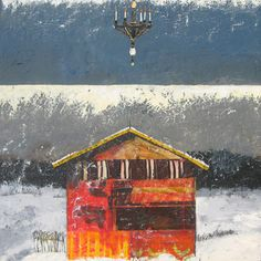 Shed & Chandelier by Sheep Jones