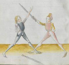 Lecküchner, Hans: Kunst des Messerfechtens Nordbayern, 1482 Cgm 582 Folio 276