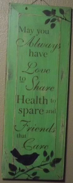 Hand crafted wood sign.
