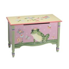 Magic Garden Toy Chest - doesnt exactly go with her room but it's not totally opposite... plus i think it would match that super cute book shelf...