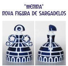 Sargadelos is a ceramics tradition of Galicia, Spain. I want this collection! Art Costume, Ceramic Figures, Country Blue, Ceramic Pottery, Decorative Bells, Blue And White, Clay, Traditional, Creative