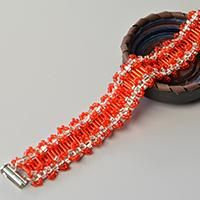 Are you touched by this beautiful red seed bead bracelet design? Follow my steps, you can also make one!