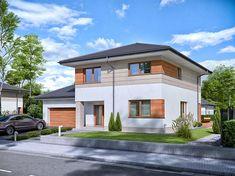 Projekt Domena 311 B 147,76 m2 - koszt budowy 225 tys. zł - EXTRADOM Two Story Homes, Story House, Home Fashion, Ideas Para, Mansions, House Styles, Home Decor, Decorating, House Template