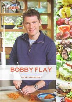 """Explores the life and culinary career of Bobby Flay, detailing his rise to fame on the show """"Iron Chef."""" Includes full-color photographs, a chronology, a glossary, and further reading sources."""
