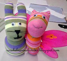 Rosabel manualidades: Curso de muñecos con calcetines