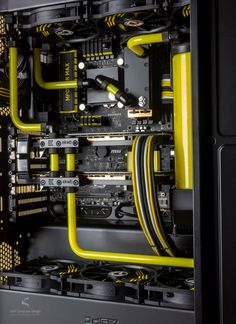 Gaming Rig from Snef Design Project yellow another view