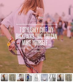 7 #Stylishly Cute DIY Backpacks That You Can Make Yourself ... - DIY