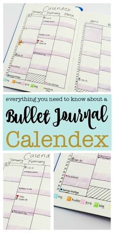 Creating a bullet journal calendex is an easy way to visually organize important dates and pages in your bullet journal. Find tons of Calendex inspiration for your bullet journal