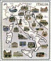 Gallery.ru / Фото #1 - Карта Италии - DELERJE