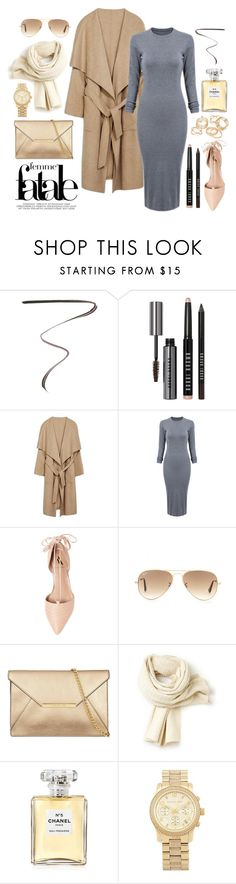 """Flashing Lights"" by marissa-91 ❤ liked on Polyvore featuring Yves Saint Laurent, Bobbi Brown Cosmetics, Ava & Aiden, Ray-Ban, Lacoste, Chanel, Michael Kors and JFR"