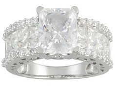 Bella Luce (R) 8.10ctw Rhodium Plated Sterling Silver Ring