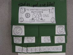 Excellent foldable for teaching values of coins and dollar bill---- this would go really well with our 1st reading unit- dollars and sense