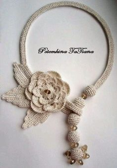 Irish crochet &: Ornaments from Tatiana Potemkin Love Crochet, Bead Crochet, Irish Crochet, Crochet Crafts, Crochet Flowers, Crochet Lace, Crochet Projects, Crochet Ornaments, Freeform Crochet
