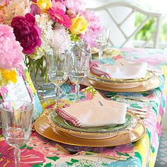 Lilly Pulitzer featured on SouthernLiving.com - Set the Table!
