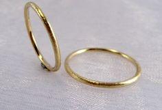 zarte Trauringe, Partnerringe 585/- Gold von Goldschmiede Kirsten Rasche auf DaWanda.com