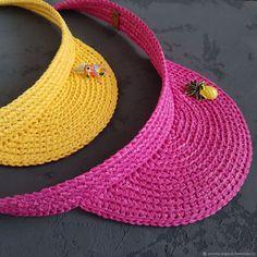 Crochet Beret Pattern, Crochet Hat With Brim, Crochet Baby Hat Patterns, Crochet Cap, Crochet Baby Hats, Crochet Slippers, Love Crochet, Sombrero A Crochet, Knit Hat For Men