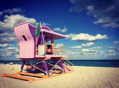 lifeguard stand in Miami Beach #miami #florida #miamibeach #sobe #southbeach #brickell #Miami by Lisa Bowman